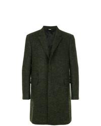 Темно-зеленое длинное пальто от Stella McCartney