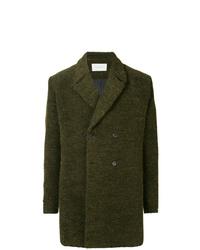 Темно-зеленое длинное пальто от Strateas Carlucci