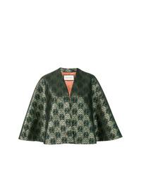 Темно-зеленое пальто-накидка от Gucci