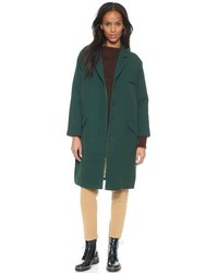 Темно-зеленое пальто
