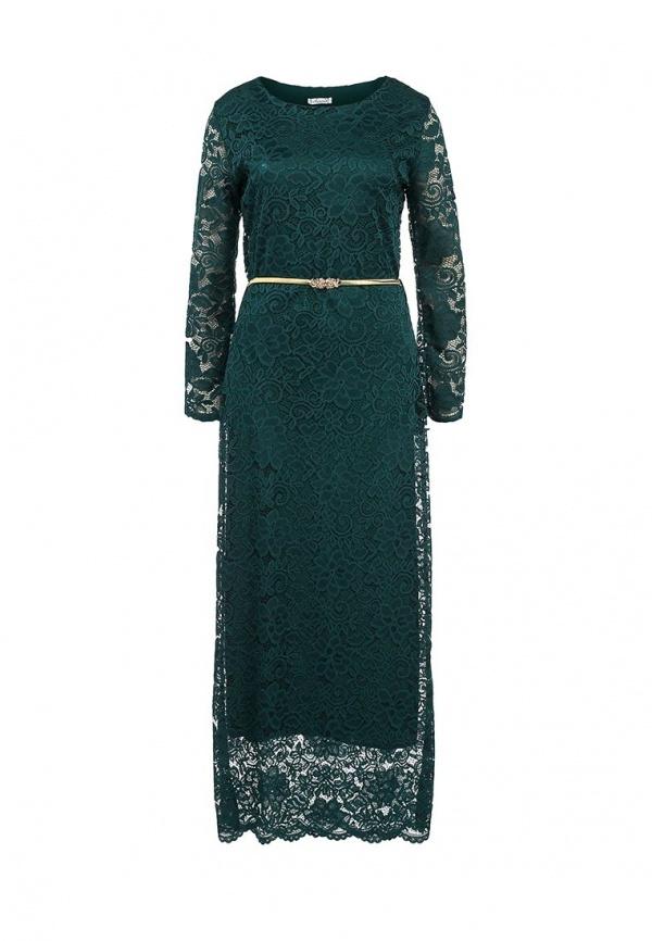 91c48074f115 2 240 руб., Темно-зеленое платье-макси от Aurora Firenze
