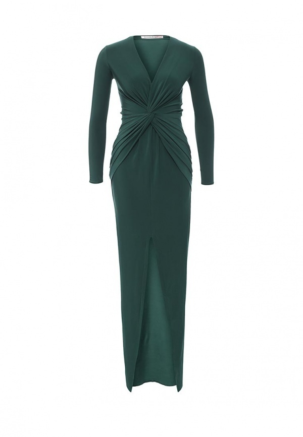 0d060a4628ec Темно-зеленое платье-макси от TrendyAngel