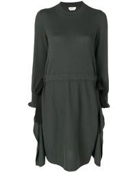 Женское темно-зеленое платье от Fendi