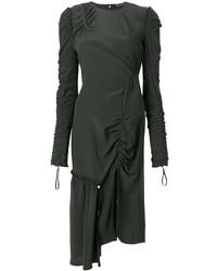 Женское темно-зеленое платье от Versace