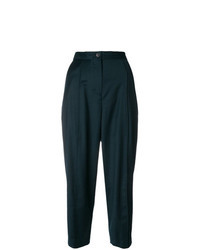 Темно-зеленые брюки-галифе