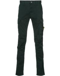 Темно-зеленые брюки карго