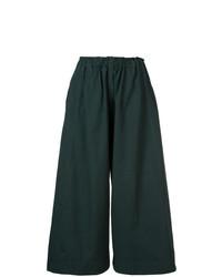 Темно-зеленые брюки-кюлоты