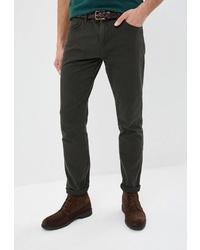 Темно-зеленые брюки чинос от Colin's