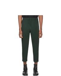 Темно-зеленые брюки чинос от Homme Plissé Issey Miyake