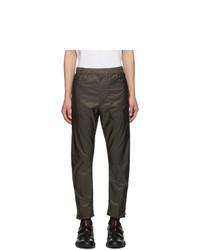 Темно-зеленые брюки чинос от Prada
