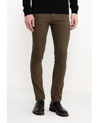 Темно-зеленые брюки чинос от Topman