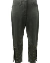 Женские темно-зеленые брюки от Fendi