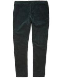 Мужские темно-зеленые вельветовые джинсы от Burberry