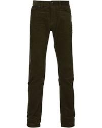 Мужские темно-зеленые вельветовые джинсы от Diesel Black Gold