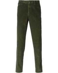 Мужские темно-зеленые вельветовые джинсы от Pt01