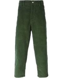 Мужские темно-зеленые вельветовые джинсы от Societe Anonyme
