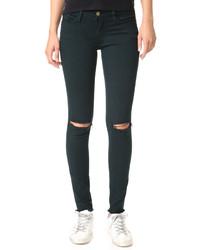 Темно-зеленые джинсы скинни от Frame