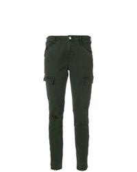 Темно-зеленые джинсы скинни от J Brand