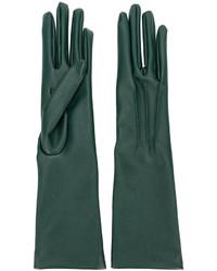 Темно-зеленые длинные перчатки от Stella McCartney