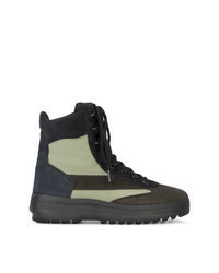 Темно-зеленые замшевые повседневные ботинки