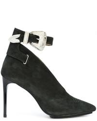 Темно-зеленые замшевые туфли от Toga Pulla