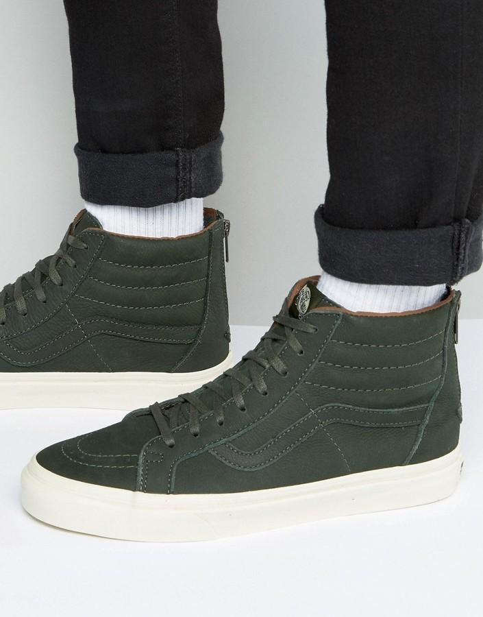 Мужские темно-зеленые кеды от Vans   Где купить и с чем носить a696a722dba