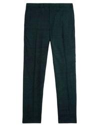 Темно-зеленые классические брюки