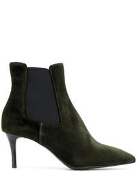 Женские темно-зеленые кожаные ботинки челси от P.A.R.O.S.H.