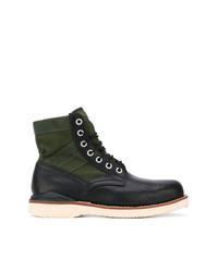 Темно-зеленые кожаные повседневные ботинки