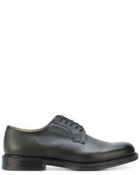 Мужские темно-зеленые кожаные туфли дерби от Church's