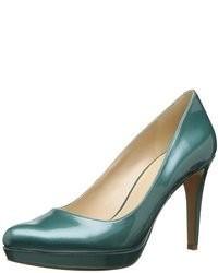 Темно-зеленые кожаные туфли