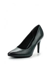Темно-зеленые кожаные туфли от Marco Tozzi