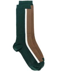 Женские темно-зеленые носки с принтом от Marni