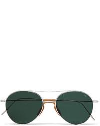 Мужские темно-зеленые солнцезащитные очки