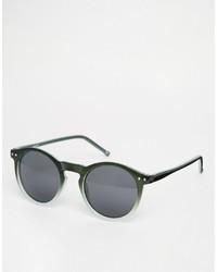 Мужские темно-зеленые солнцезащитные очки от Asos
