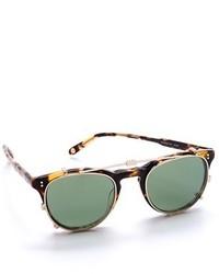 Женские темно-зеленые солнцезащитные очки от Garrett Leight