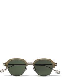 Мужские темно-зеленые солнцезащитные очки от Gucci