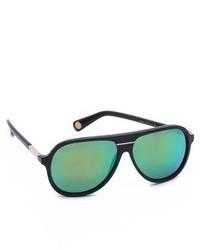 Женские темно-зеленые солнцезащитные очки от Marc Jacobs