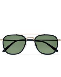 Мужские темно-зеленые солнцезащитные очки от Moscot