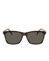 Мужские темно-зеленые солнцезащитные очки от Saint Laurent
