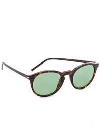Женские темно-зеленые солнцезащитные очки от Saint Laurent