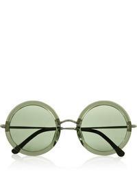 Женские темно-зеленые солнцезащитные очки от The Row