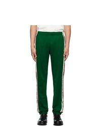 Мужские темно-зеленые спортивные штаны от Gucci