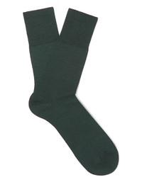 Мужские темно-зеленые шерстяные носки от Falke