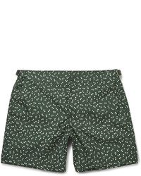 Темно-зеленые шорты для плавания с принтом от Dolce & Gabbana