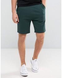 Мужские темно-зеленые шорты от Asos