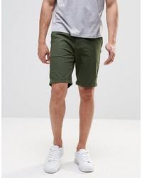 Мужские темно-зеленые шорты от Pull&Bear