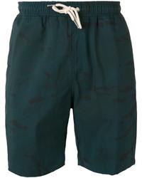 Мужские темно-зеленые шорты от Soulland