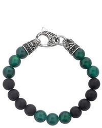 Темно-зеленый браслет из бисера