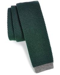 Темно-зеленый вязаный галстук